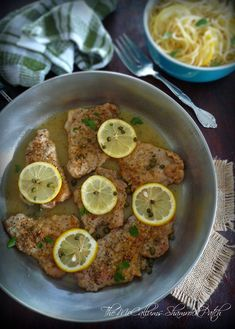 Pork Piccata with lemon and Capers is a deliciously simple Italian-American classic dish made from tender pork tenderloin slices that have been simply seasoned with kosher salt, freshly ground pep. Pork Tenderloin Recipe Brown Sugar, Pork Tenderloin Recipes, Pork Recipes, Slow Cooker Recipes, New Recipes, Real Food Recipes, Dinner Recipes, Cooking Recipes, Yummy Recipes