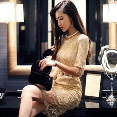 65019 Korea Elegant Dinner Dress