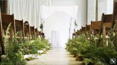 Overgrown ceremony aisle