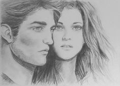 Portrait of Edward and Bella.