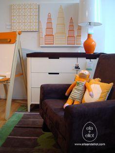 Avalisa Nursery City Orange Furniture Cool Kids