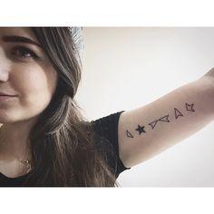 I'm a Blackstar.  #davidbowie #bowie #blackstar #tattoo by megshutup