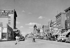 Downtown North Battleford in the 1950s.Saskatchewan Archives Board