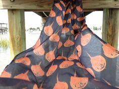 Horseshoe Crab Cotton Voile Full Scarf