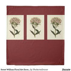 Sweet William Floral Art Duvet Cover