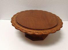 wood vintage cake stands | Vintage Wooden Cake Stand on Etsy, $40.00