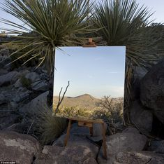 Optical illusion: Photographer Daniel Kukla captured stunning images by taking pictures of a mirror in the desert