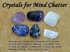 Crystals for Intuition Amethyst, Lapis Lazuli, Moonstone, or Sodalite can be used to enhance and boost your natural intuitive gifts. Work with your favorite intuition crystals by placing them on your Third Eye or holding them in your hands while you m Crystal Magic, Crystal Healing Stones, Grounding Crystals, Crystal Grid, Crystals And Gemstones, Stones And Crystals, Gem Stones, Chakras, Rocks And Gems