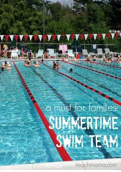 In my opinion, a summertime swim team is a must! Find out why with my swim team ideas! Make the best of your summer with this great outdoor learning activity for kids! #teachmama #swim #swimteam #outdoors #physicalexercise #summerfun #summer #ideasforkids