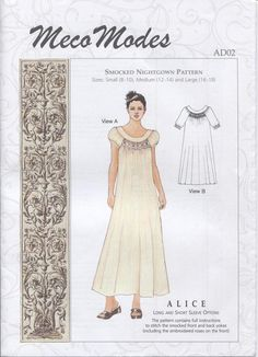 Old fashioned nightgown pattern 53