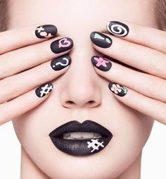 New!!! Trend!! Chalkboard nails #nailart #Ciaté