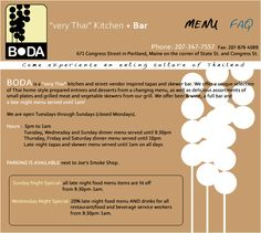 "Boda | A ""very Thai kitchen + bar"" 