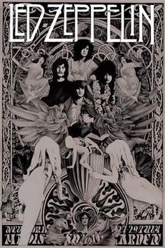Rock And Roll, Pop Rock, Led Zeppelin Poster, Led Zeppelin Wallpaper, Led Zeppelin Logo, Concert Rock, John Howe, Vintage Music Posters, Retro Posters