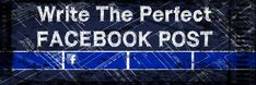 How to Write the perfect Facebook post | Did you know there was a Perfect Facebook Post... well according to the analytics and data there is and here it is: http://www.jasonfox.me/how-to-write-the-perfect-facebook-post-infographic - #facebook #infographic #socialmedia
