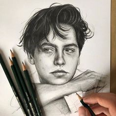 More fantastic from French artist Robin Amar (📷robin_amar) Cole Sprouse Bleistiftzeichnung Hipster Drawings, Art Drawings Sketches, Realistic Drawings, Cute Drawings, Pencil Drawings, Art Sketches, Hipster Doodles, Pencil Sketching, Art Illustrations