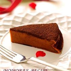 ホットケーキミックスで簡単♪バター・生クリームなしでシットリ濃厚のガトーショコラが出来ちゃいます☆豆腐感なくチョコレートの風味が味わえます♪