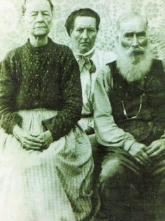 ~Mary Jane Blair-Ball (Cherokee Euro-American) With Her Daughter, Sara Jane Ball-Moore (Cherokee Euro-American), & Her Husband James Harvey Ball - circa Cherokee Tribe, Cherokee Indians, Native American Cherokee, Native American Images, Native American Indians, Native Americans, Cherokees, Cherokee History, Seminole Indians