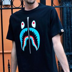 Shark T-Shirt by BAPE inspired from the classic full-zip hoodie.