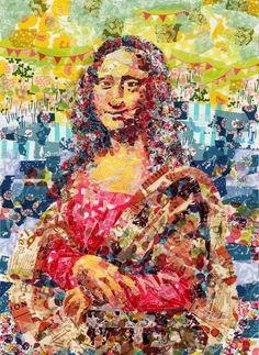 Nasa Funahara Recreate Famous Paintings With Colorful Masking Tape. WOW!
