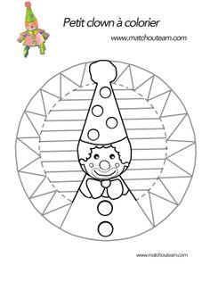Ma Tchou team: Clown en papier, le coloriage pas comme les autres. Clown Crafts, Carnival Crafts, Easy Diy Crafts, Diy Crafts For Kids, Art For Kids, Circus Theme, Circus Party, Kindergarten Crafts, Preschool Crafts