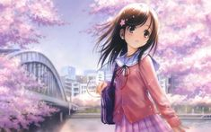 Cute Anime Girl HD Wallpapers - Free download latest Cute Anime Girl HD Wallpapers for Computer, Mobile, iPhone, iPad or any Gadget at WallpapersCharlie.com.