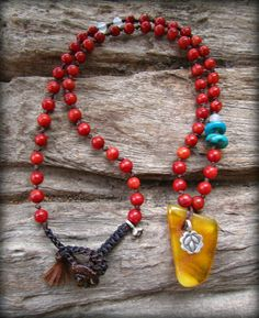 Baltic Amber  Red Coral  Turquoise  Karen Hill by cainersbliss