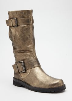 gold boots by gentle souls. i could get into that.