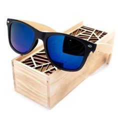 Black Square Sunglasses With Bamboo Legs  & FREE Shipping Worldwide //$25.78    #horology #instawatch
