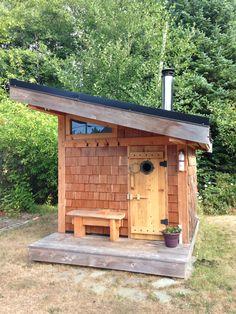 backyard design – Gardening Tips Sauna House, Hut House, Sauna Room, Tiny House Cabin, Diy Sauna, Sauna Ideas, Sauna Design, Shed Design, Jacuzzi