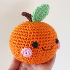 Happy Orange Amigurumi Pattern