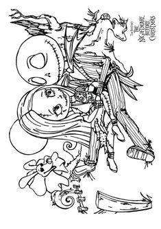 nightmare before christmas coloring pages mayoral | print coloring image | Sugar Skulls | Pinterest ...