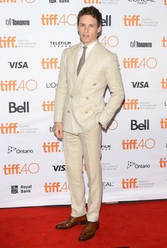 "ralphlauren: ""Actor Eddie Redmayne wore a #RLPurpleLabel suit to the world premiere of #ISawTheLight at #TIFF15 """