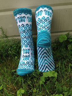 Ravelry: knitting1955's Sommerfulgl sokker / Butterfly