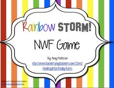 Rainbow STORM! NWF (Nonsense Word Fluency) Game $