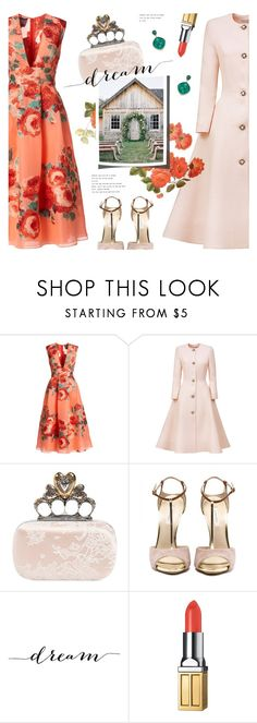 """""""dreamy dresses"""" by jesuisunlapin ❤ liked on Polyvore featuring Lela Rose, Esme Vie, Alexander McQueen, WALL, Elizabeth Arden and Ila"""