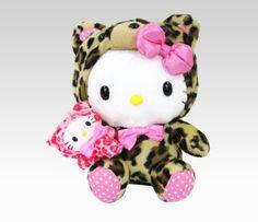 Leopard Hello Kitty plush