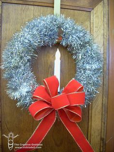 Vintage Inspired Tinsel Wreath for Christmas Decor