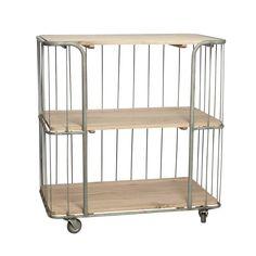 Hubsch+trolley+van+hout+en+metaal