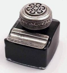 Ornate Inkwell with Pen Rest
