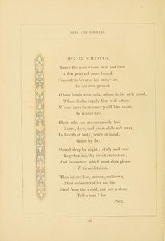 Odes and sonnets, illustrated