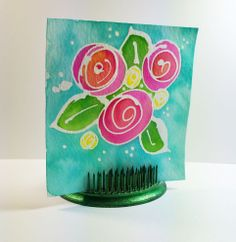 love these bright, bold colors! Flowers by mduffek at @Studio_Calico