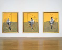 """Iconic 1969 triptych """"Three Studies of Lucian Freud"""" sold for $142.4 million at Christie's to Acquavella Galleries."""