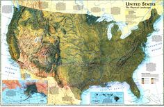 Us Physical Map Quiz Us Map Of The United States Us Physical Map - Geographical map of the united states