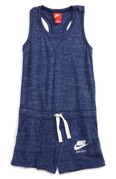 Free shipping and returns on Nike Racerback Knit Romper (Big Girls) at Nordstrom.com. Whether it's playtime or just lounging on the weekend, a racerback romper cut from marled cotton-blend jersey will help her stay comfy.