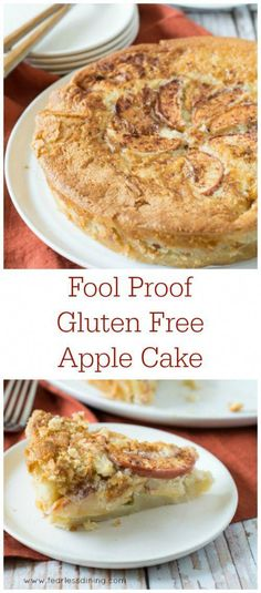 Free Creamy Apple Cake Gluten Free Apple Cakes are completely fool proof. So easy to make! Recipe at www.Gluten Free Apple Cakes are completely fool proof. So easy to make! Recipe at www. Gluten Free Apple Cake, Gluten Free Deserts, Gluten Free Sweets, Gluten Free Cakes, Foods With Gluten, Gluten Free Cooking, Dairy Free Recipes, Vegan Gluten Free, Dessert Oreo