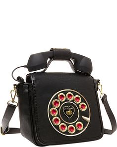 KITCHI TELEPHONE CROSSBODY BLACK accessories handbags day satchels