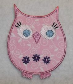 Owl iron on Applique Patch