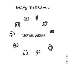 *Pling!* Word of day 72: social media. . . #365waystodrawfestival #socialmedia #illustratie #illustration #tekening #waystodraw #icons #sketchnote #visualnote #graphicrecording #getekendverslag #getekendenotulen #zakelijktekenen #visuelenotulen #visueelnotuleren #tekening #studiolimon #haarlem #amsterdam #denbosch