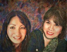 Ji Soo & Maria Colored Pencils, Ca. 2017, 11x14, Private Collection