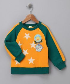 Take a look at this Yellow Raglan Star Sweatshirt - Toddler by Piyo Piyo on #zulily today!